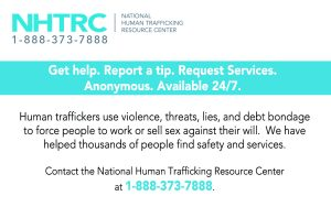Human Trafficking Tip Card