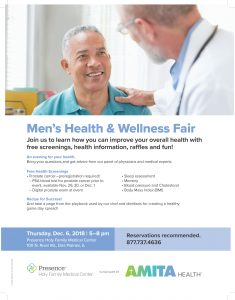 Men's Health and Wellness Fair Flyer Amita