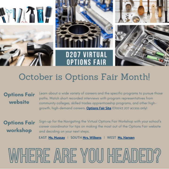 D207 Options Fair 2020 email